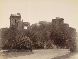 Back view, [ruined] Dilkusha Palace, Lucknow.
